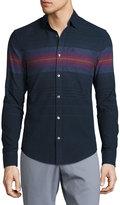 Original Penguin Ombre Striped Long-Sleeve Shirt, Blue