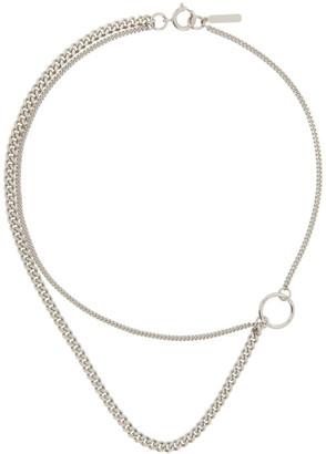 Justine Clenquet Silver Morgan Necklace