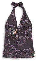 Zara Terez Girl's Printed Halter Swim Top