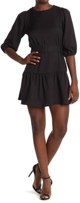 FAVLUX Puff Sleeve Ruffle Dress