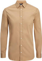 Poplin Stretch Jim Shirt In Camel