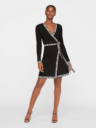 Diane von Furstenberg Perry Knit Mini Wrap Dress