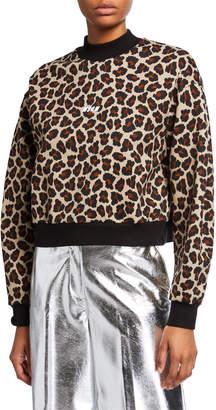 MSGM Animal-Print Sweatshirt