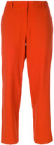 Theory cropped suit pants - women - Virgin Wool/Spandex/Elastane/Polyester - 4