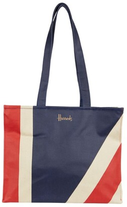Harrods Large Union Jack Shoulder Bag