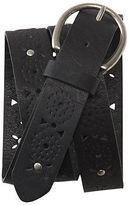 Aeropostale Womens Studded Perf Belt Black