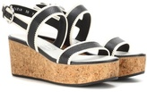 Salvatore Ferragamo Emilia leather wedges
