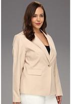 Klein Plus Anne Plus Size 1-Button Blazer