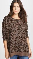 Z Supply Leopard Weekender Sweatshirt