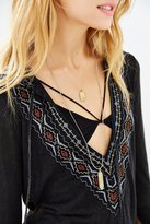 Urban Outfitters Ecote Embroidered Tunic Top