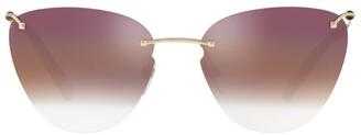 Valentino Mirrored Cat Eye Sunglasses