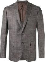 Caruso plaid blazer - men - Silk/Linen/Flax/Cupro/Wool - 50