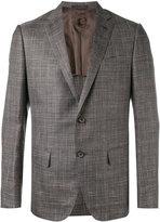 Caruso plaid blazer - men - Wool/Silk/Linen/Flax/Cupro - 50
