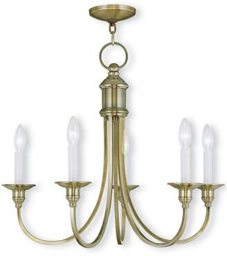 Livex Lighting Livex Cranford 5-Light Antique Brass Chandelier