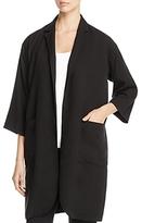 Eileen Fisher Notch Collar Long Open Front Jacket