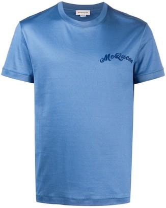 Alexander McQueen logo embroidered T-shirt