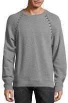 Versace Heathered Raglan Sleeve Sweatshirt