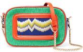 Missoni Leather-Trimmed Crochet Knit Shoulder Bag