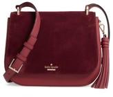 Kate Spade Daniels Drive - Tressa Suede & Leather Shoulder/crossbody Bag - Red