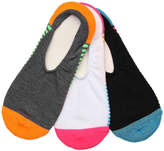 Converse Color Block Stripe No Show Liners - 3 Pack - Women's