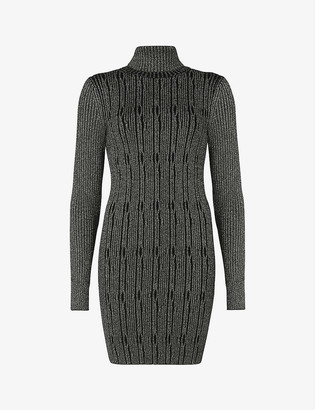 AllSaints Rosa cable-knit mini dress