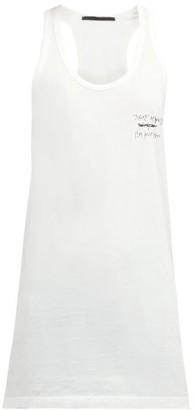 Haider Ackermann Tekst-print Cotton Tank Top - Womens - Ivory Multi