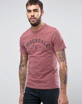 Barbour Liddesdale Print T-shirt Slim Fit Garment Dye In Red