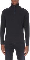 HUGO BOSS Half-zip wool jumper