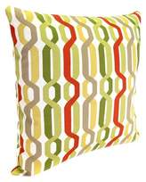 Jordan Manufacturing Outdoor Square Toss Pillow - Red/Green Geometric