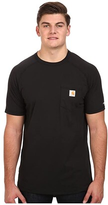 Carhartt Big Tall Force Cotton S/S T-Shirt (Black) Men's T Shirt