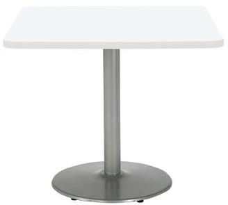 """KFI Studios Mode Square Multipurpose Table Top Finish: Designer White, Size: 29"""" H x 30"""" W x 30"""" D, Base Finish: Silver"""