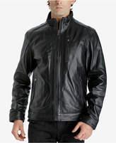 Michael Kors Men's Zip-Front Leather Jacket