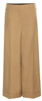 Valentino Wide-leg Cotton Trousers