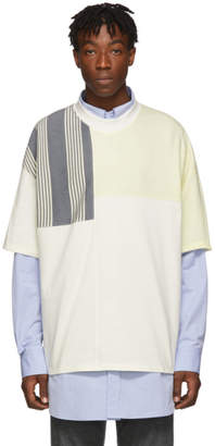 Jil Sander White Oversized Panels T-Shirt