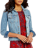 Lucky Brand Tomboy Destruction Trucker Denim Jacket