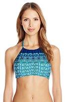 Kenneth Cole Reaction Women's Scarfs On Deck Hi Neck Halter Bikini Top