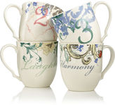 Lenox CLOSEOUT! Dinnerware, Set of 4 Collage by Alice Drew Mugs