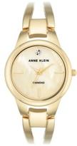 Anne Klein Women's Diamond Oval Bangle Watch, 32Mm