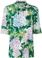 Dolce & Gabbana hydrangea print pyjama shirt - women - Silk/Spandex/Elastane - 42