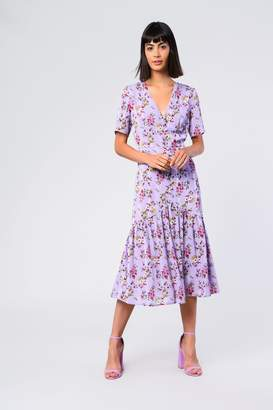 Glamorous Womens **Lilac Button Front Orchid Midi Dress By Lilac