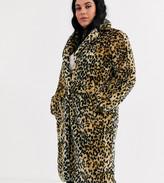 Brave Soul Plus arctic long length faux fur coat