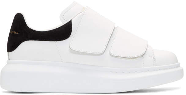 Alexander McQueen White Oversized Strap Sneakers