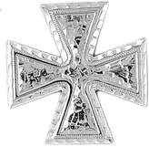 NecklaceObsession Rhodium-plated 925 Silver 34mm Iron Cross Pendant Necklace