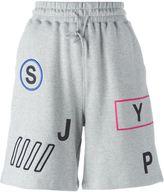 SteveJ & YoniP Steve J & Yoni P letter print track shorts