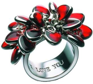 Swatch Bijoux Love Explosion JRR016-5 I Love You Ring Red Hearts Size 5 / G