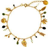 Alex Monroe Tropical Leaf Charm Bracelet, Gold