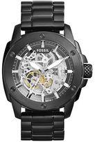 Fossil Modern Machine Automatic Blackened Stainless Steel Bracelet Watch