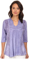 Christin Michaels Embroidered Knit Top