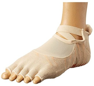 Richer Poorer Pointe Studio Dunes Grip Toeless (Sand) Women's Low Cut Socks Shoes