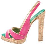 DSQUARED2 Suede Slingback Sandals